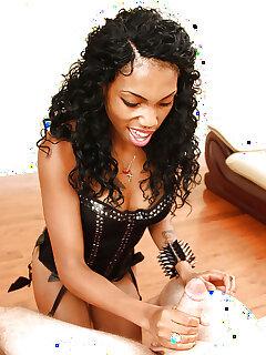 Ebony Handjob Photos